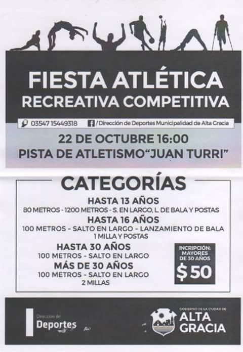 Fiesta atlética en la pista Juan Turri