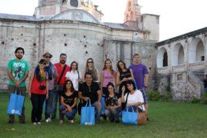 beti con periodistas paraguayos en la estancia jesuitica
