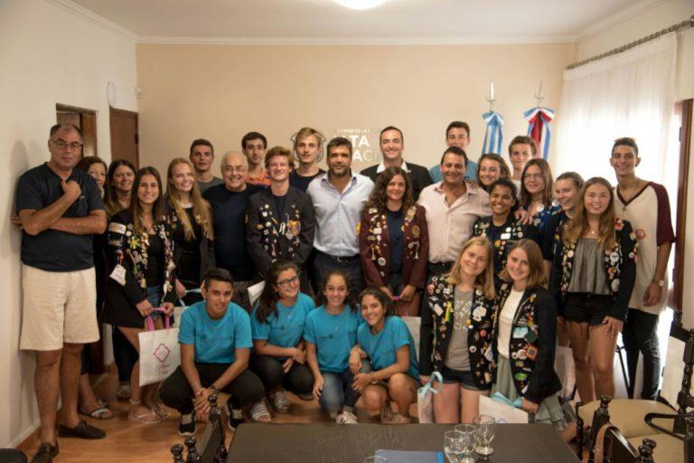 El Intendente recibió a los estudiantes de intercambio de Rotary Internacional