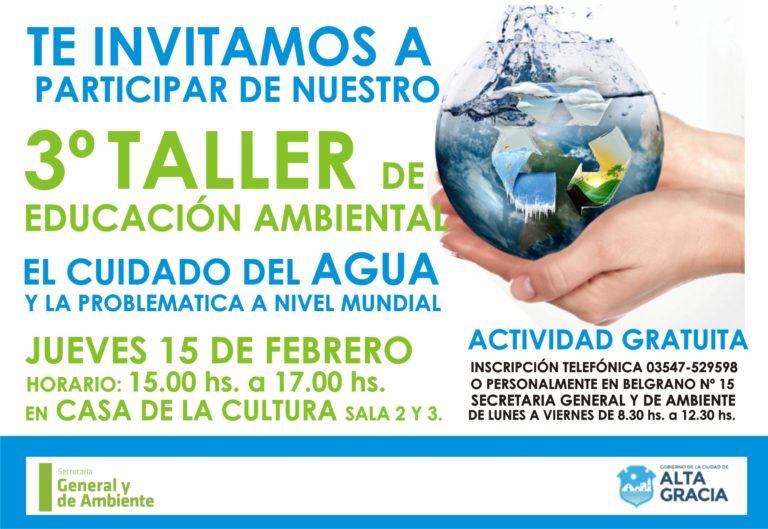Se viene el tercer taller Educación Ambiental