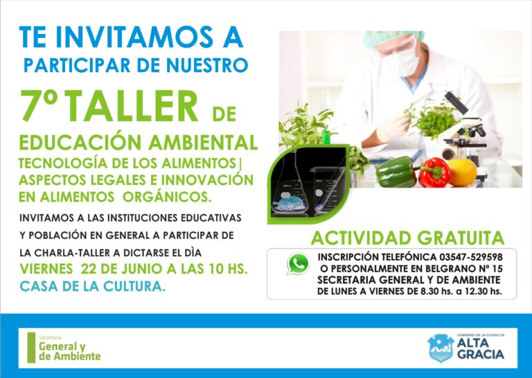 Charla – taller sobre tecnología de los alimentos