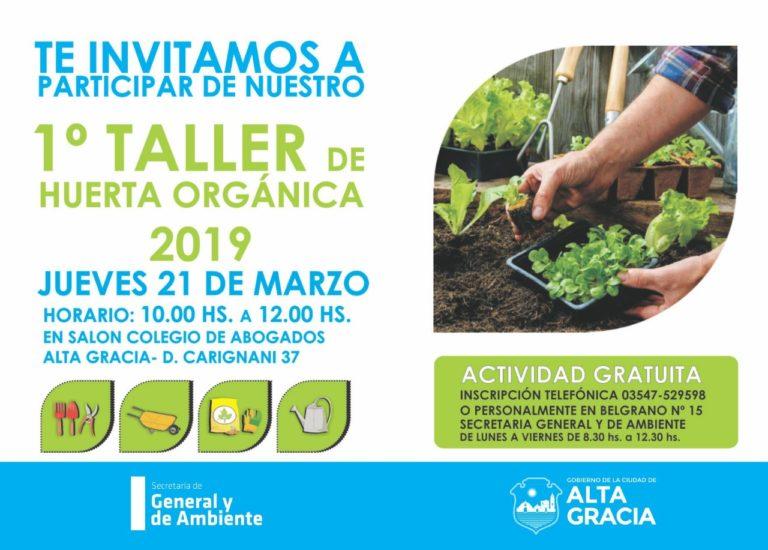 Llega el 1º Taller de Huerta Orgánica del 2019