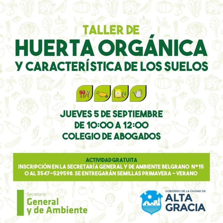 Llega un nuevo Taller de Huerta Orgánica
