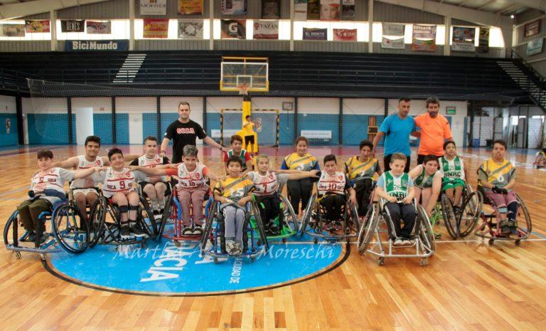 Se disputó una nueva fecha de la liga provincial de básquet en silla de ruedas