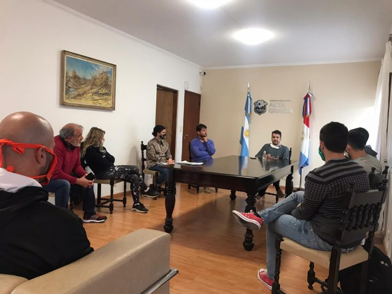 El intendente se reunió con los representantes de los gimnasios de nuestra ciudad