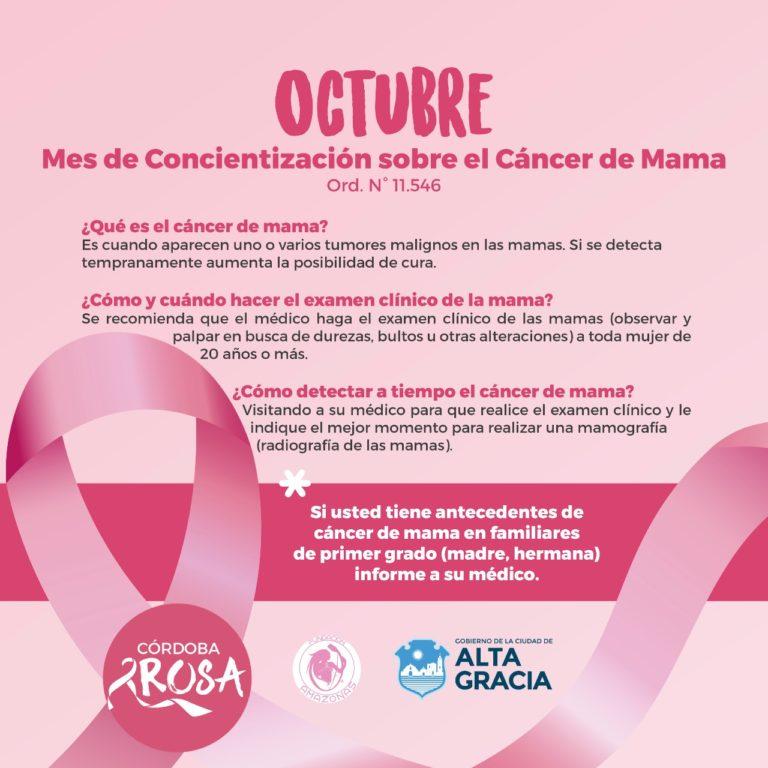 Octubre mes Nacional de Concientización sobre el Cáncer de Mama