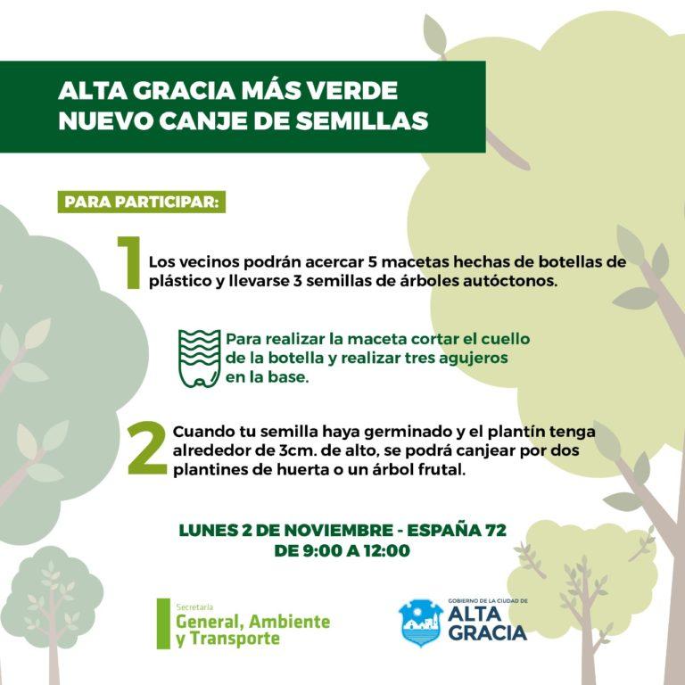 Alta Gracia Más Verde: Restauremos juntos la flora de nuestro lugar forestando y reforestando desde las semillas