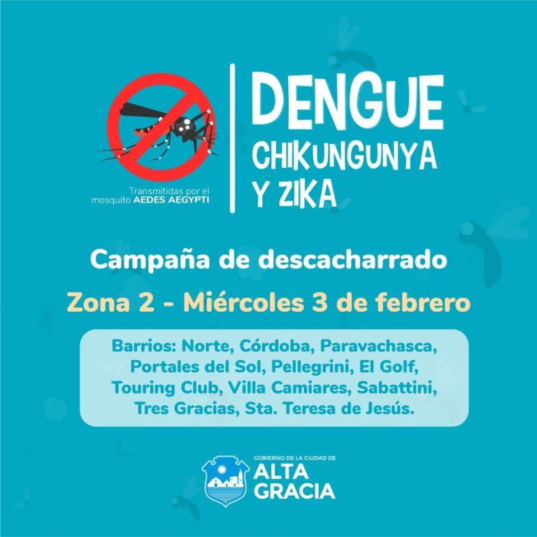 Comienza la campaña de descacharrado contra DENGUE, ZIKA Y CHIKUNGUNYA