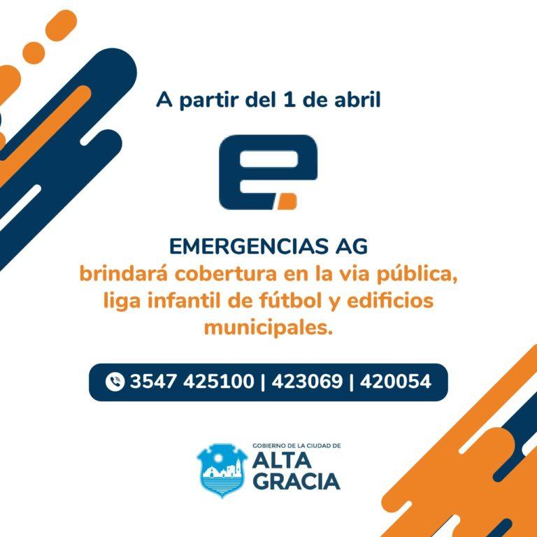 Alta Gracia brinda un Servicio de Emergencias Médicas en la vía pública