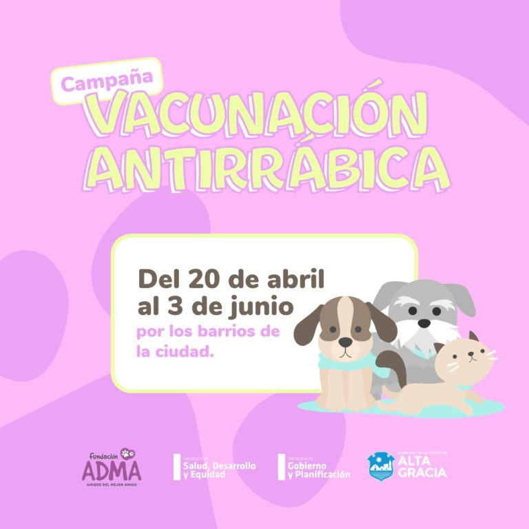 Campaña de vacunación antirrábica por los barrios de la ciudad