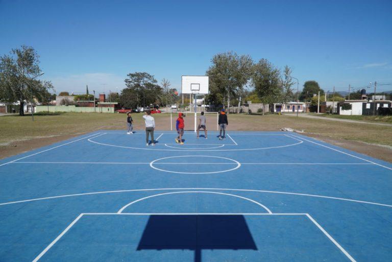 Nuevo playón polideportivo para Barrio Parque San Juan