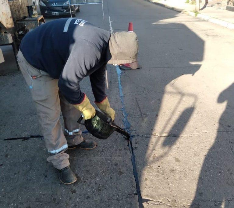 Trabajos de mantenimiento en diferentes calles de la ciudad