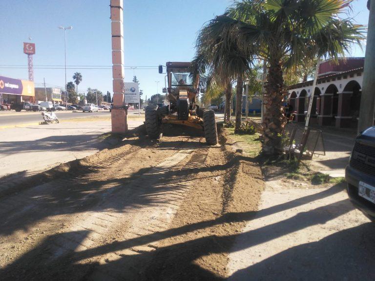 Luego de las lluvias, se retomaron los trabajos de arreglo de calles de tierra