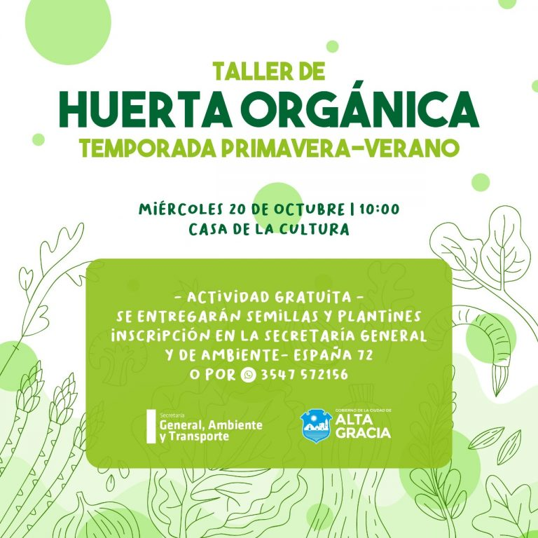 Nuevo Taller de Huerta Familiar